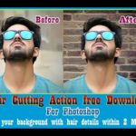 hair cutting action Photoshop free download